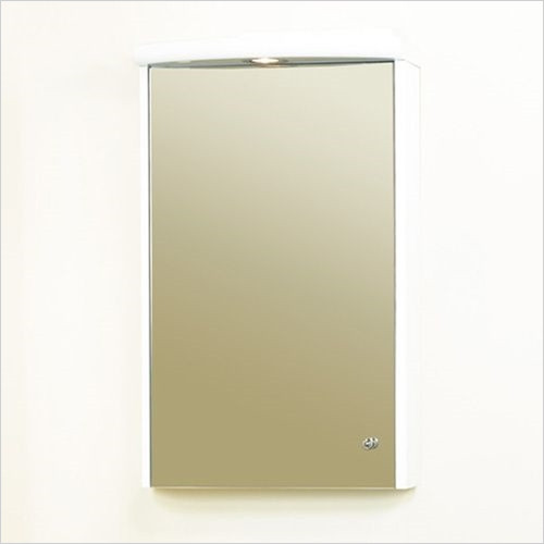 Estuary Bathrooms - 430mm Light Cabinet Cornice, 1 Spot