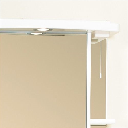Estuary Bathrooms - 600mm Light Cabinet Cornice, 1 Spot