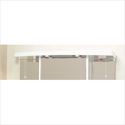 Estuary Bathrooms - 800mm Light Shaver Socket Cabinet Cornice