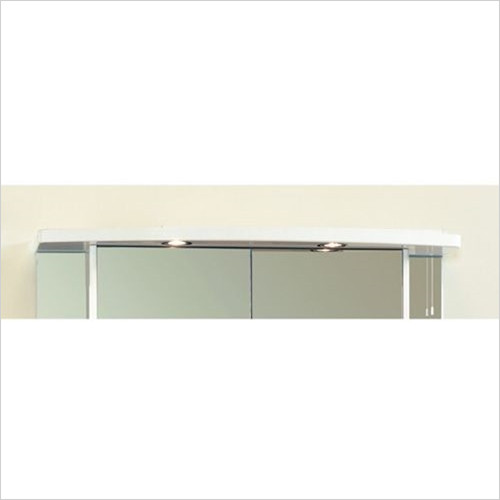Estuary Bathrooms - 1000mm Light Cabinet Cornice, 2 Spots