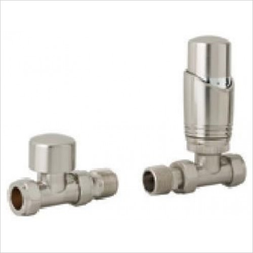 Estuary Accessories - 15mm Straight TRV & Lockshield Valve