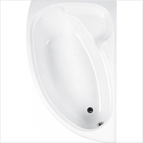 Estuary Bathrooms - Dove Offset Corner Bath 1550 x 950mm, Carronite RH