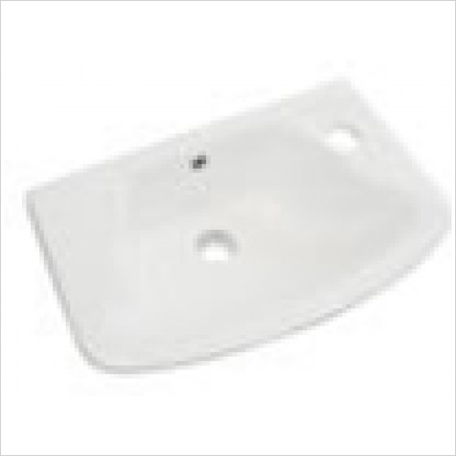Estuary Bathrooms - Loire Cloakroom Basin 450 x 270mm 1 Tap Hole