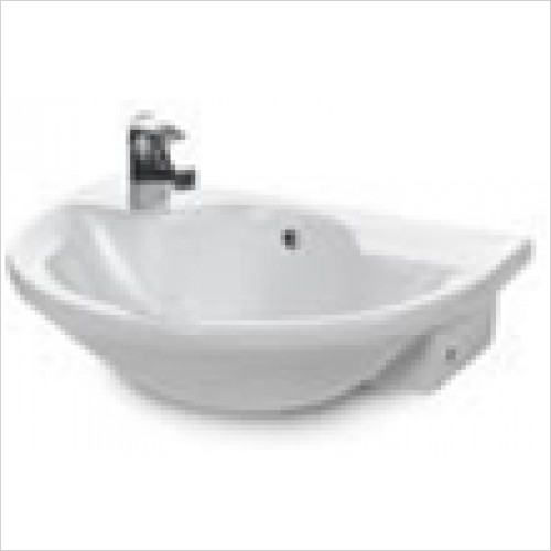 Estuary Bathrooms - Kompact Reduced Depth Semi-Recessed Basin 2TH
