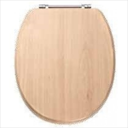 Estuary Bathrooms - Sherwood MDF Soft Close Seat In Vinyl Wrap