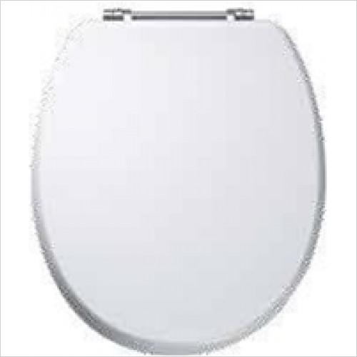Estuary Bathrooms - Diamante/Sherwood Soft Close Seat With Chrome Hinge