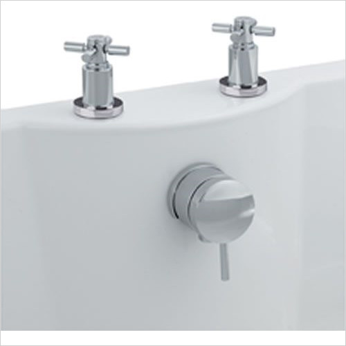 Estuary Bathrooms - Freeflow Bath Filler, Pop-Up Waste & Overflow