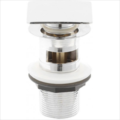 Estuary Bathrooms - Square Slotted Sprung Plug Basin Waste