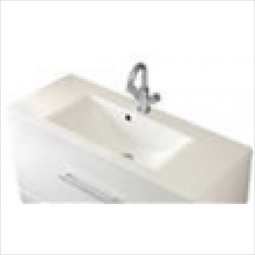 Estuary Bathrooms - Oslo Cast Top Single Bowl Vanity Basin 1000mm 1 Tap Hole