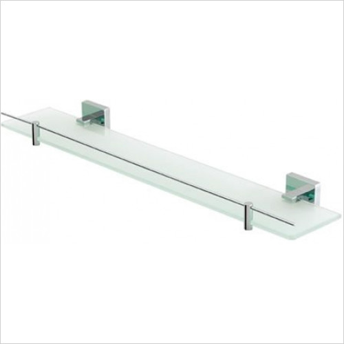 Estuary Accessories - Rimini Glass Shelf With Barrier
