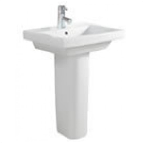 Estuary Bathrooms - Linea Basin 560mm 1 Tap Hole