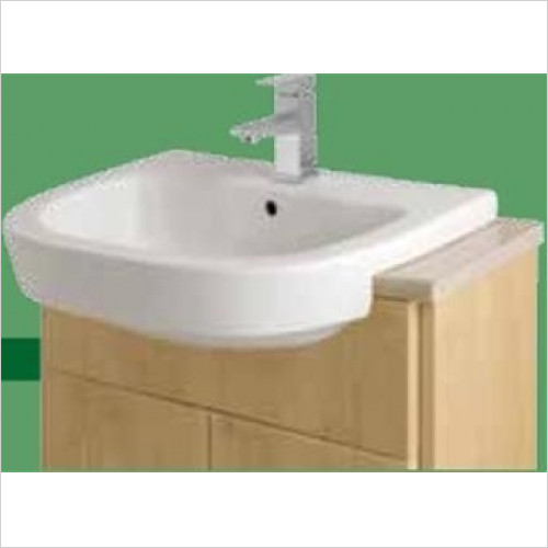 Estuary Bathrooms - Metro Semi-Recessed Basin 1 Tap Hole