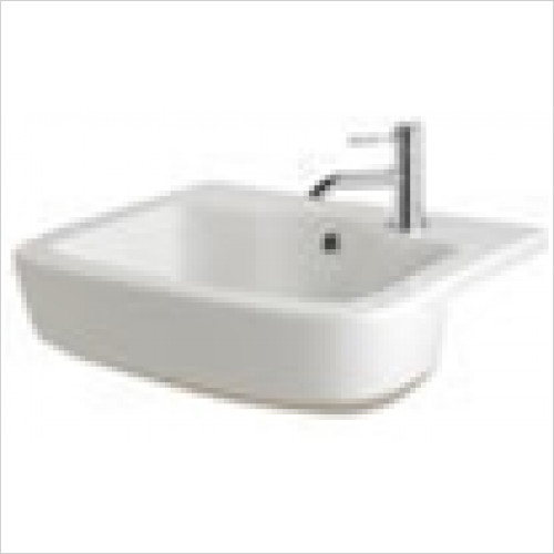 Estuary Bathrooms - Minima Semi-Recessed Basin 1 Tap Hole