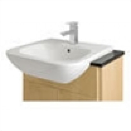 Estuary Bathrooms - Alto Semi-Recessed Basin 1 Tap Hole