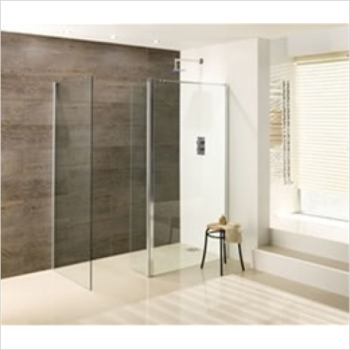 Estuary Bathrooms - Valliant Front Walk-In 600 x 1950mm & 300mm Flipper 8mm