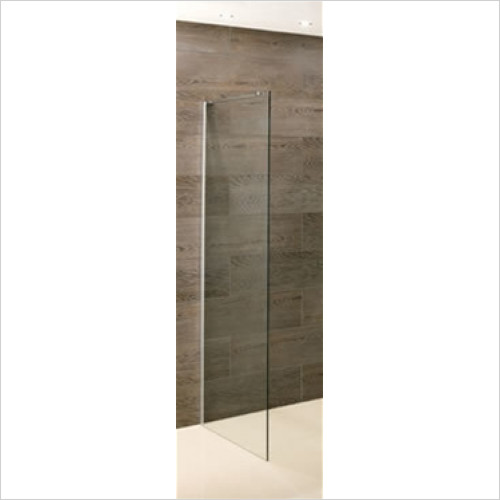 Estuary Bathrooms - Valliant Side Walk-In 1000 x 1950mm With Support Bar 8mm