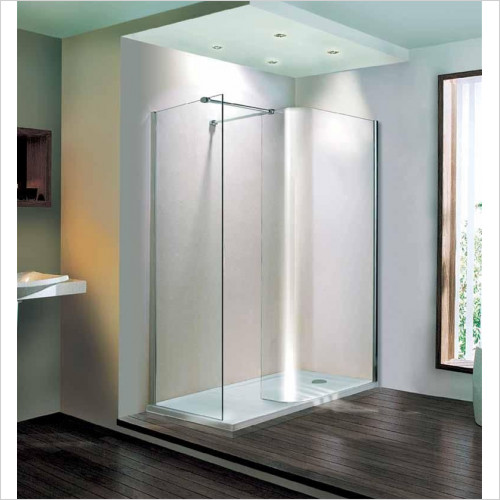 Estuary Bathrooms - Volente Curved Walk-In Panel 870mm For 1400mm Tray