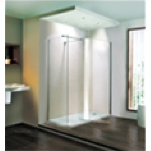 Estuary Bathrooms - Volente Curved Walk-In Panel 970mm For 1500mm Tray