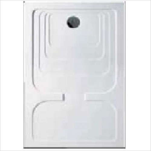 Estuary Bathrooms - Volente Tray For Curved Walk-In 1500 x 900mm