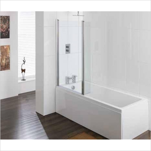 Estuary Bathrooms - Volente 2 Part Hinged Shower Screen 1550 x 1456mm