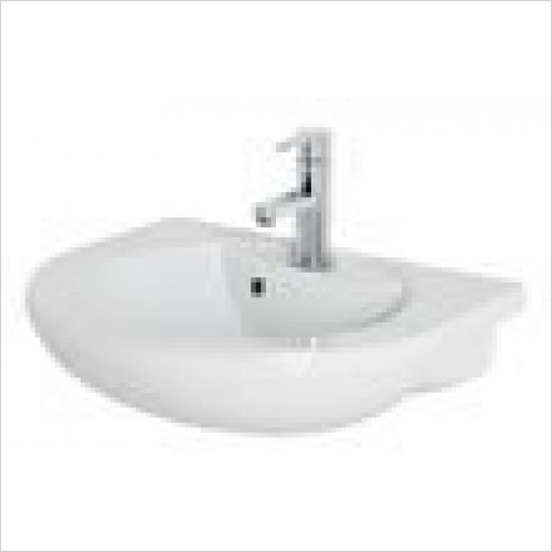 Estuary Bathrooms - Type 55 Semi-Recessed Basin 1 Tap Hole