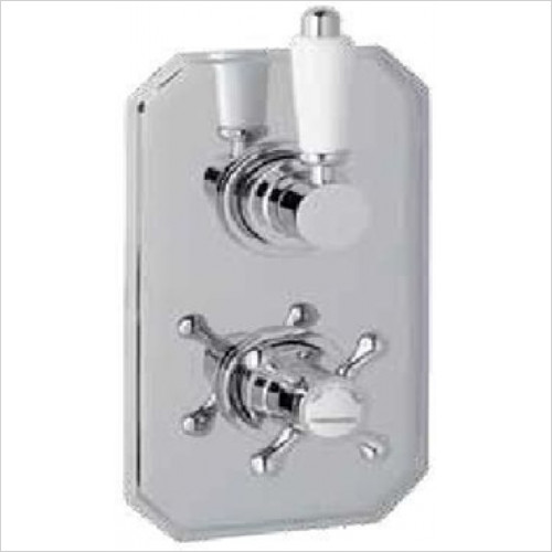 Estuary Bathrooms - Twin Control Shower Valve With Diverter Only