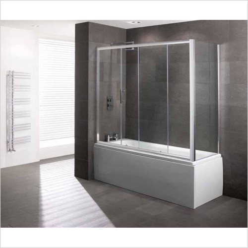Estuary Bathrooms - Volente Over Bath Slider Door 6mm EC Glass 1690 x 1475mm